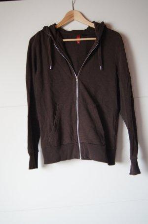 Sweater, Ziphoodie, Weste, braun von H&M, Kapuzenpullover