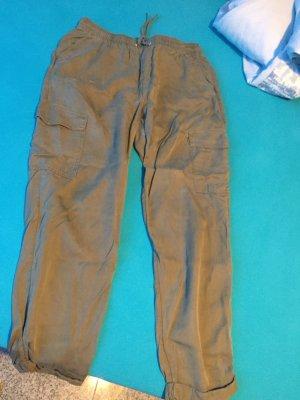 H&M Sweat Pants khaki-green grey