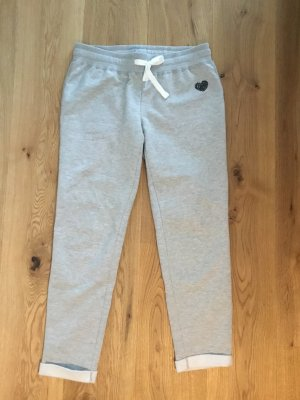 Sweat Pants light grey-silver-colored cotton