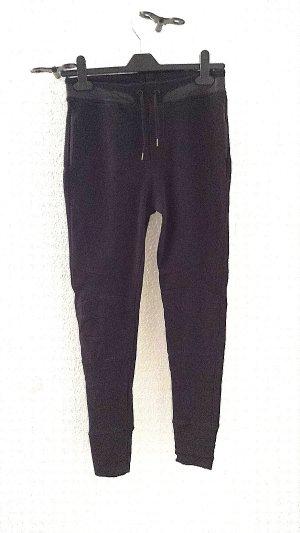 Zara Pantalone fitness nero Cotone