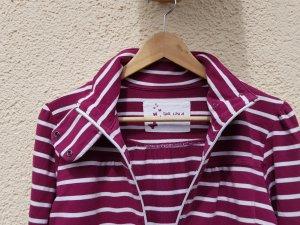Tchibo / TCM Veste chemise blanc-violet coton