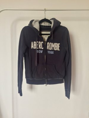 Sweatjacke Abercrombie and Fitch dunkelblau Hoodie classic