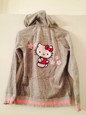 Sweatjacke aus Nicki-Samt von Hello Kitty