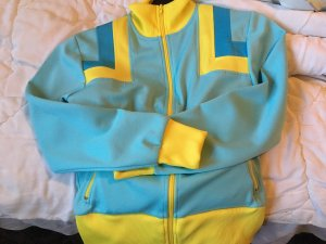 College Jacket yellow-turquoise