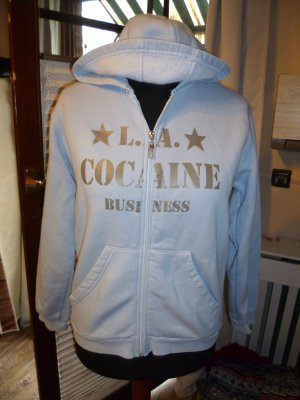 Sweatjacke Cocaine business Gr 40 hellblau top