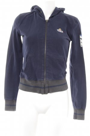 Sweatjack donkerblauw casual uitstraling