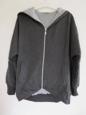 Lilienfels Giacca fitness grigio-grigio chiaro Tessuto misto