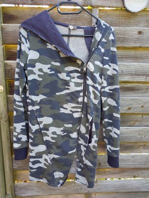 Sweatjacke Hoodie Camouflage Tarnmuster