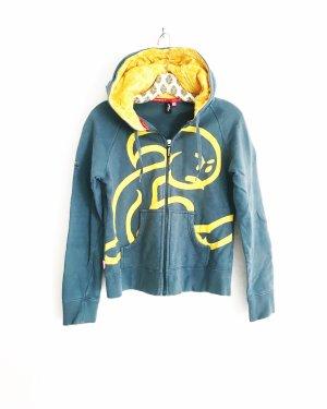 sweatjacke / hoodie / el niño / surfwear / sportswear / casual / blau gelb