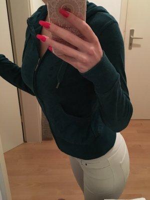 Veste chemise bleu pétrole-turquoise