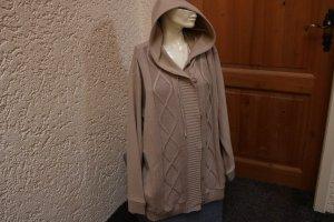 Veste à capuche brun sable tissu mixte