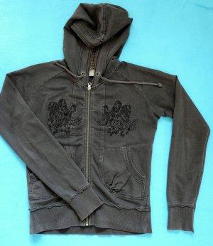 Sweatjacke mit Kaputze 100% Baumwolle Gr M