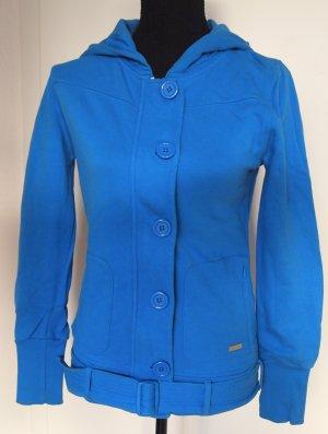 Nixon Sweat Jacket blue-steel blue cotton