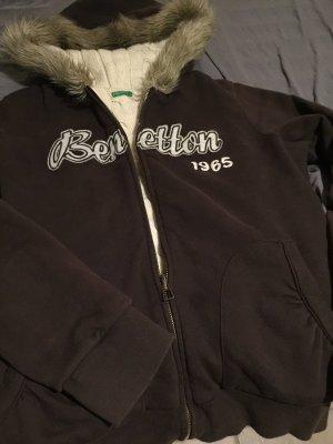 Benetton Hoody black brown cotton