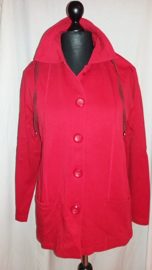 Gina Laura Shirt Jacket red cotton