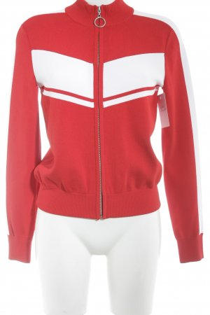 Giacca fitness rosso-bianco stile casual