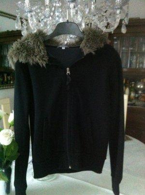 Amisu Veste chemise noir-gris brun