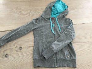 Sweatjacke, Sweater, Hoodie mit ZIP von Puma in Gr. 36 grau Türkis blau