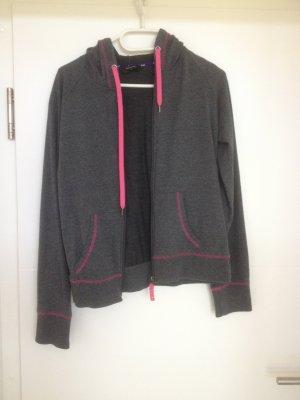 Hunkemöller Sweat Jacket anthracite-pink cotton