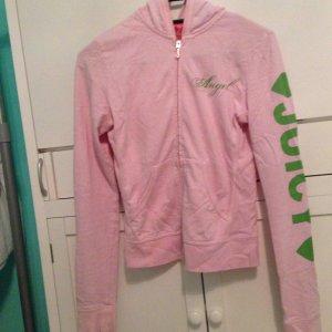Juicy Couture Chaqueta de tela de sudadera verde-rosa