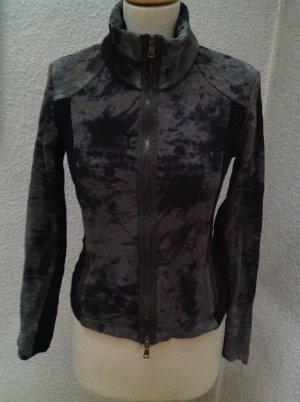 Marc Cain Shirt Jacket black-olive green mixture fibre