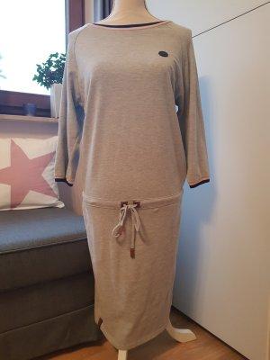 Naketano Vestido de tela de sudadera gris claro