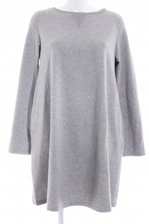 Sweat Dress light grey casual look