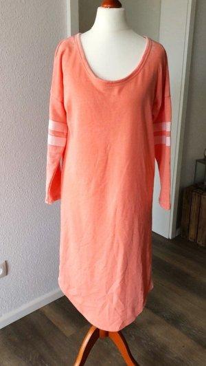 Sweatkleid neon orange S langer Pullover Three60