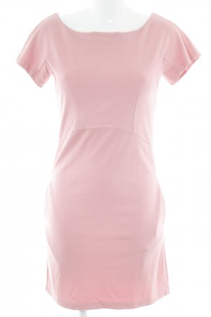 Sweatkleid rosa-silberfarben Casual-Look