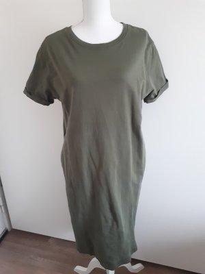 Pull & Bear Vestido de tela de sudadera verde oliva