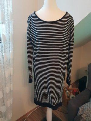 Vestido de tela de sudadera blanco-negro