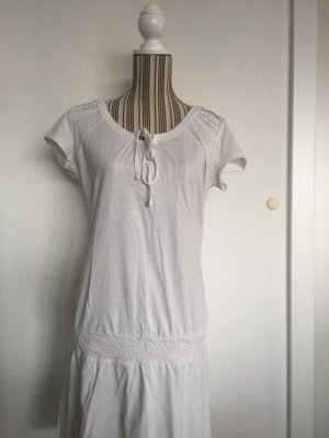Edc Esprit Sweat Dress natural white-cream cotton