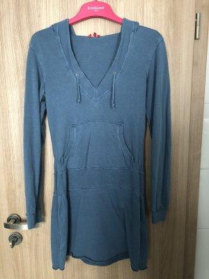 Kenvelo Vestido de tela de sudadera azul acero
