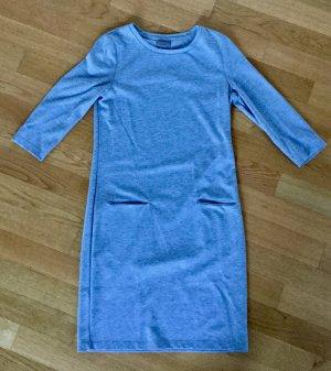 Vestido de tela de sudadera color plata-gris claro Algodón