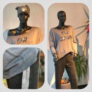Cotton Candy Pantalone fitness argento-antracite