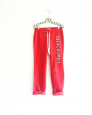 sweatpants / jogginghose / abercrombie & fitch / A&F / rot / red