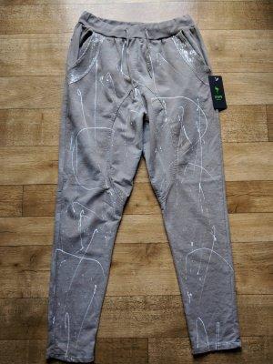 Pantalon de jogging gris brun fibre textile