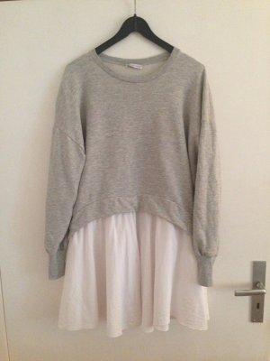 Zara Pull gris-blanc