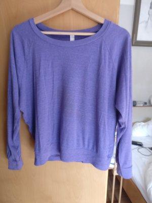 American Apparel Sweatshirt violet-lilas coton