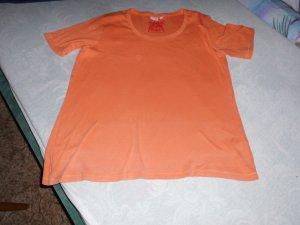 Camiseta tipo polo naranja neón Algodón