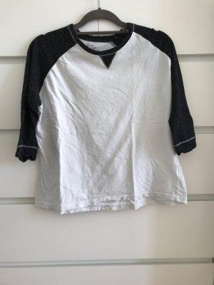 Primark Oversized Shirt white-black