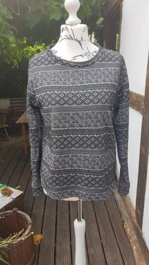 Sweatshirt 40 schwarz/weiß