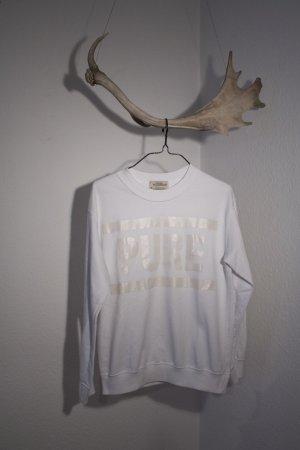 Pull & Bear Sweat Shirt white