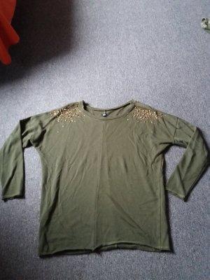 Ann Christine Sweat Shirt gold-colored-khaki