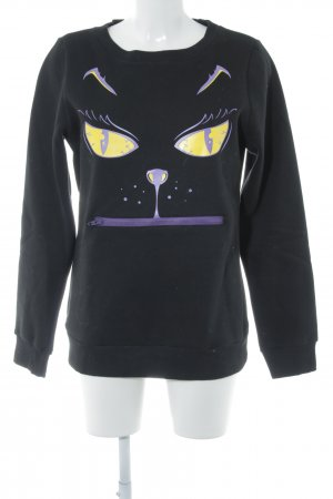 Sweatshirt abstrakter Druck Casual-Look