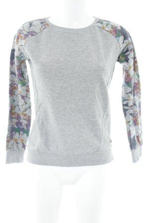 Sweatshirt abstraktes Muster Casual-Look