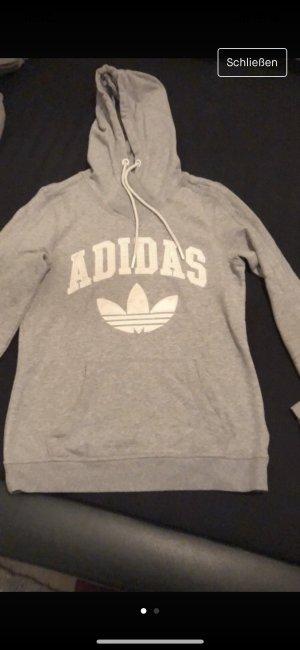 Adidas Originals Felpa con cappuccio grigio chiaro