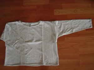 Sweatshirt beige grau meliert