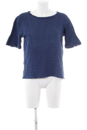Sweatshirt bleu style décontracté