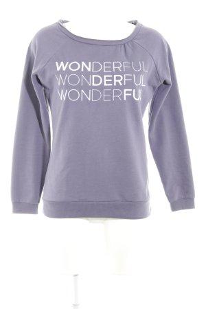Sweatshirt bleu violet style décontracté